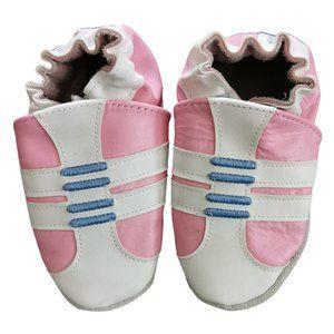 Robeez Trainers Soft Sole Shoes, Bubblegum Pink